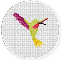 Pretty Hummingbird PDF Cross Stitch Pattern por DailyCrossStitch
