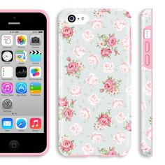 Amazon.com: iphone 5c floral case, Akna Glamour Series Flexible Transparent TPU Snap On Soft Clear High Impact Back Case for iPhone 5C [English Flower](U.S): Cell Phones & Accessories