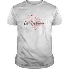 Cad Technician Artistic Job Design with Butterflies T Shirts, Hoodie. Shopping Online Now ==► https://www.sunfrog.com/Jobs/Cad-Technician-Artistic-Job-Design-with-Butterflies-White-Guys.html?41382