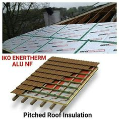 IKO enertherm is used for the thermal insulation of pitched roofs on the rafters or on the trusses.  Pitched roofing insulation always gives 3 benefits. * Very easy installation without breaks. * Interior finish and volume are retained. * Windproof in one operation.   Just contact  ☎03-40319455  📲whatsapp at 019-656 0961 💻www.1atap.com.my/enertherm