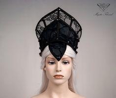 Dunkel grau-schwarzen Spitzen gotischen von MysticThreadDesigns