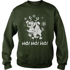 Bulldog Ho Ho Ho 2 Funny Christmas Shirt Sweater