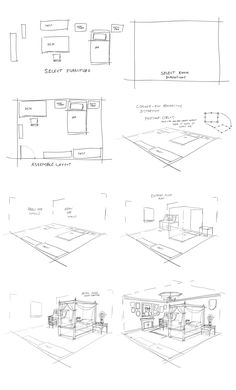 Drawing Tips Perspective Croquis Architecture, Interior Architecture Drawing, Architecture Concept Drawings, Drawing Interior, Architecture Sketchbook, Interior Design Sketches, Architecture Diagrams, Architecture Portfolio, Perspective Drawing Lessons