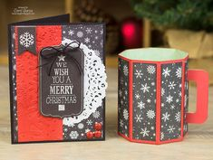 DIY 3D Cocoa Mug (& card) made with my Silhouette #LoriWhitlock #EchoPark #Christmas
