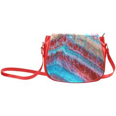 Red Blue Rock Layers Nature Art Classic Saddle Bag/Large (Model 1648)