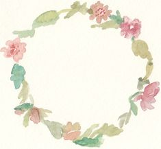 Free Watercolor Floral Wreath Clip Art