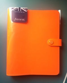 Filofax Original A5 Fluro Orange #Filofax. Yet another perfect example of how the planner craze has led to price-gouging - and note that this one doesn't even come with the inserts, despite being shown in the 2nd picture! BUY THESE FROM AMAZON.CO.UK for much, much less!
