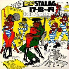 VARIOUS ARTISTS - Original Stalag 17-18 & 19 ℗ 1985, Techniques - illustration © Wilfred Limonious