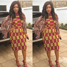 20 Aso Ebi Styles Inspired By Ankara Fabric - Beautiful Nigeria African Inspired Fashion, African Print Fashion, African Fashion Dresses, African Dress, Fashion Prints, African Prints, African Lace, African Wear, Unique Ankara Styles