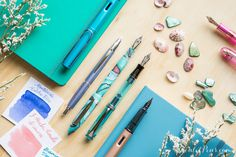 Love these fountain pens! Take a beachy stroll along the seaside and record what you see with one of these gorgeous fountain pens. Pin for later.