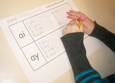 students not only had to search for the words, but they had to sort them the right way, too.