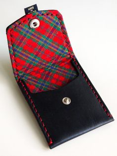 Black with Red & Green Plaid (Pocket Wallet)