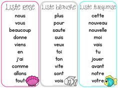 Les mots fréquents et les mots usuels (FRENCH High Frequency/Sight Words) French Teaching Resources, Teaching Time, Teaching French, Teaching Spanish, Teaching Ideas, Word Work Activities, Language Activities, Spanish Activities, German Words
