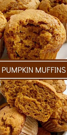 Pumpkin Muffins are soft, moist, bake up perfectly, loaded with pumpkin, spices and they use one entire 15 oz can of pumpkin. The perfect pumpkin muffins. Pumpkin Muffin Recipes, Pumpkin Spice Muffins, Pumpkin Bread, Recipes With Pumpkin, Healthy Pumpkin Muffins, Healthy Pumpkin Recipes, Coconut Sugar Recipes, Pumpkin Scones, Cheese Pumpkin