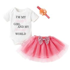 6ccb5929ef30 3PCS Newborn Baby Girl Summer Clothes Set  fashion  clothing  shoes   accessories