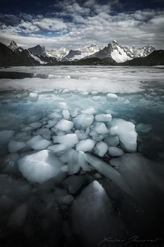 The sunken ice by Xavier Jamonet Landscape Photography by Xavier Jamonet