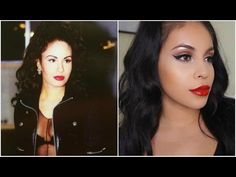 So here is my first celebrity inspired makeup look & of course it's on the beautiful Selena! 90s Makeup Look, Makeup Looks, Makeup Eyes, Selena And Chris, Selena Selena, Selena Quintanilla Perez, Inspirational Celebrities, Makeup Trends, Cute Hairstyles