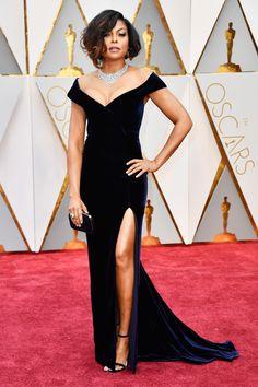The Academy Awards 2017 Taraji P. Henson in custom Alberta Ferretti