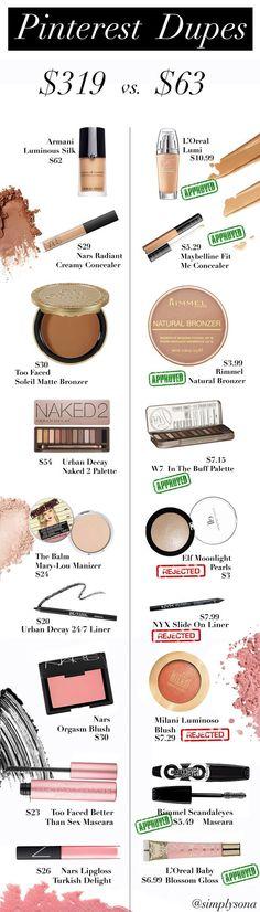 Make Up Beauty dupes Makeup Inspo, Makeup Inspiration, Makeup Tips, Makeup Ideas, Makeup Geek, Makeup Tutorials, Prom Makeup, Style Inspiration, Beauty Make-up