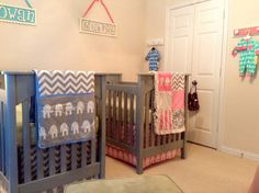 twin nursery boy girl | Phase One of Our Boy/Girl Twins' Nursery is Complete :)! Share yours ...