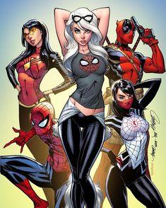 j scott campbell art spiderman Marvel Comics, Ms Marvel, Hero Marvel, Marvel Girls, Comics Girls, Silk Marvel, Captain Marvel, J Scott Campbell, Comic Book Characters