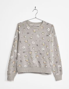 Sweat-shirt à imprimé amusant - Sweat-shirts - Bershka Belgium