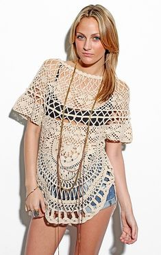 This could be a cute beach coverup. Would you #crochet it?