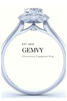 Unique HALO DIAMOND ENGAGEMENT RING 1539-7B from Gemvy