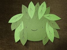 green man paper craft (for toddler)
