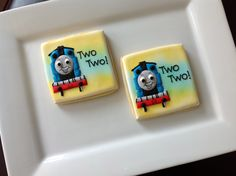 1 Dozen Thomas the Train cookie favors. by NatSweetsCookies, $48.00