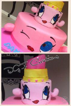 Lippy lips from shopkins #shopkinslipstick #shopkins #shopkinslipstickcake #shopkinscake #lippylipscake