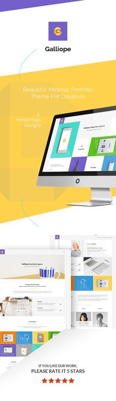 Galliope is a beautiful, clean, minimal and modern portfolio HTML template. It is suitable for creative digital agencies, personal, freelancers, photographers or models to show their portfolio ...
