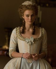 Keira Knightley as Georgiana, Duchess of Devonshire inThe Duchess (2008).