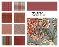 Is it the dinner special, the wine, or wasn't there a dance craze called marsala? This year marsala is a color that the experts at Pantone have Color Of Life, Color Of The Year, Marsala, Colour Pallete, Color Schemes, Ponche Navideno, Pantone Color, Pantone 2015, Powder Room Design
