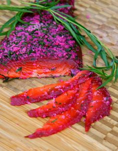 Beet Cured Salmon with Dill, Tarragon & Fresh Horseradish Beet Cured Salmon with Dill, Tarragon & Fr Salmon Recipes, Fish Recipes, Seafood Recipes, Cooking Recipes, A Food, Good Food, Yummy Food, Fresh Horseradish, Lemon Salmon