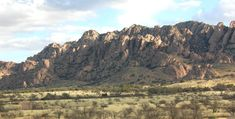 The Dragoon Mountains, where Cochise hid with his warriors.