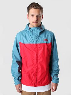 The North Face - Venture Jacket Red Storm Blue | FreshCotton.com