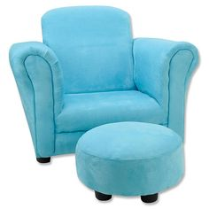 Beau Trend Lab Turquoise Ultrasuede Club Chair And Ottoman   Trend Lab $79.99