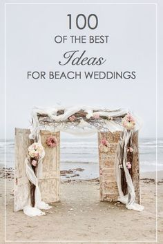 Looking for beach wedding inspiration? How about starfish, twinkle lights, and messages in bottles? We have those and 97 more ideas to make your beach wedding the best day of your life!