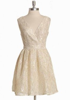 Daylight Minuet Lace Dress... little white dress, short dress, for rehearsal dinner or reception. $82.99