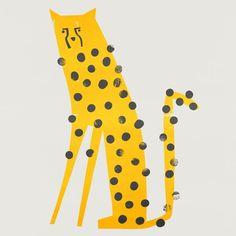 Fox And Velvet Cheetah Illustration, mid century animal, Zoo animal design, Safari animal design Speedy Cheetah Art And Illustration, Animal Illustrations, Illustrations And Posters, Grafik Design, Animal Design, Tiger Design, Art Inspo, Illustrators, Character Design