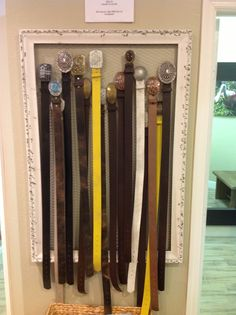 One of our belt displays at Source Clothing Company in Naples, FL.