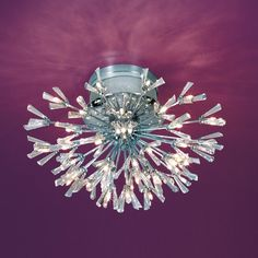 Shop Eurofase Lenka 22.75-in W Chrome Shades Crystal Semi-Flush Mount Light at Lowes.com