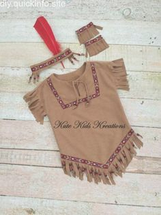 Kleine Feder Indianer Scout Apache Sioux Kostüm Fasching Cowboy Western Gr 92