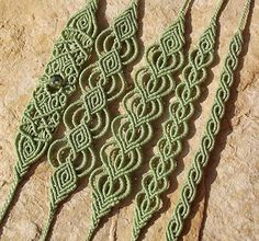 Makramé csomózott ékszer Macrame karkötő, ásvány ékszer http://www.meska.hu/Shop/index/17554