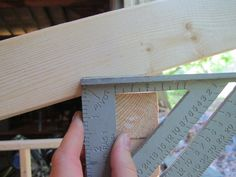 how to make a cur for a slanted roof