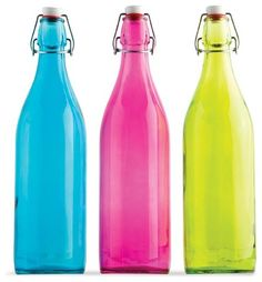 I was just saying how I want a bottle like this for beside my bed, and here they are.  I would be happy with a clear one though