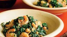 Shrimp, Chickpeas & Spinach with Ginger & Cumin - Recipe - FineCooking