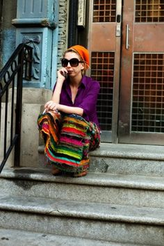 My lovely friend Nickie was in the Sartorialist!