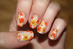 flirty floral in citrusy colors